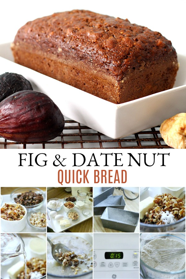 Make a sweet loaf of fig & date nut bread perfect with tea or coffee for a nutritious breakfast or snacking. This easy recipe for quick bread is full of flavor!