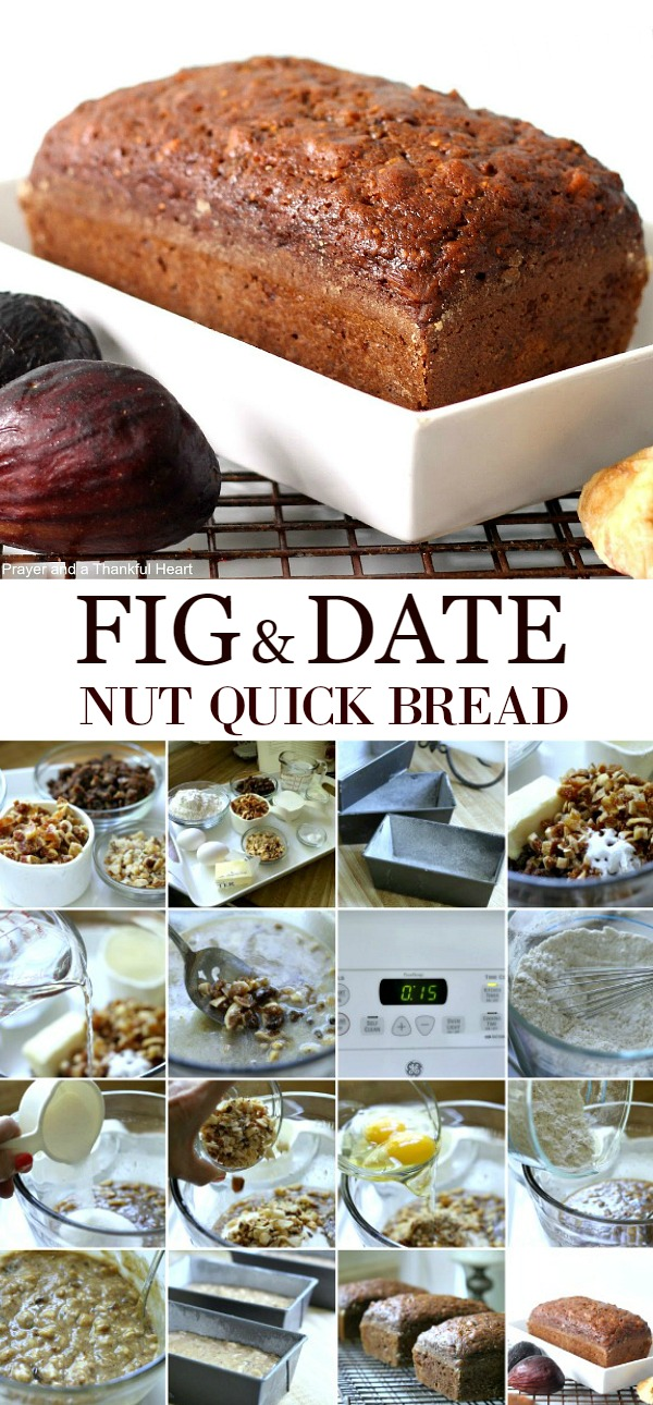 Brimming with fruit and nuts, Fig & Date Nut Bread packs a lot of nutrition and flavor into every bite. Great for breakfast or afternoon snack.