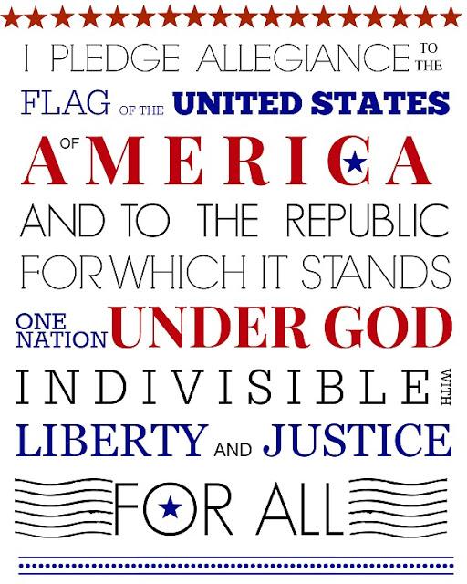 FREE Printable Pledge of Allegiance 4th of July celebration