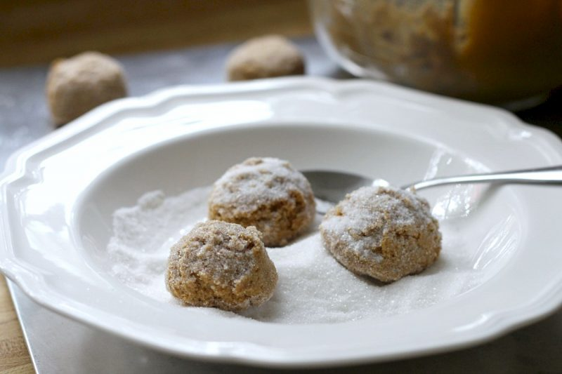 Lightly spiced Ginger Crinkles are a favorite when baking cookies with kids. Crunchy and crackled outside with chewy center. Perfect for autumn.