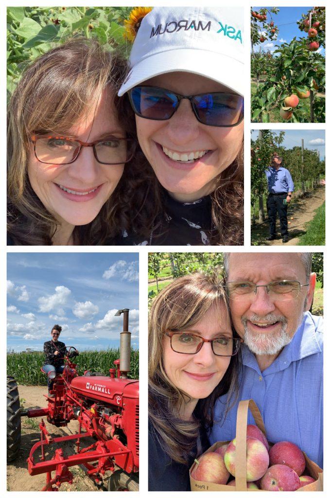 Picking apples Johnson's Farm
