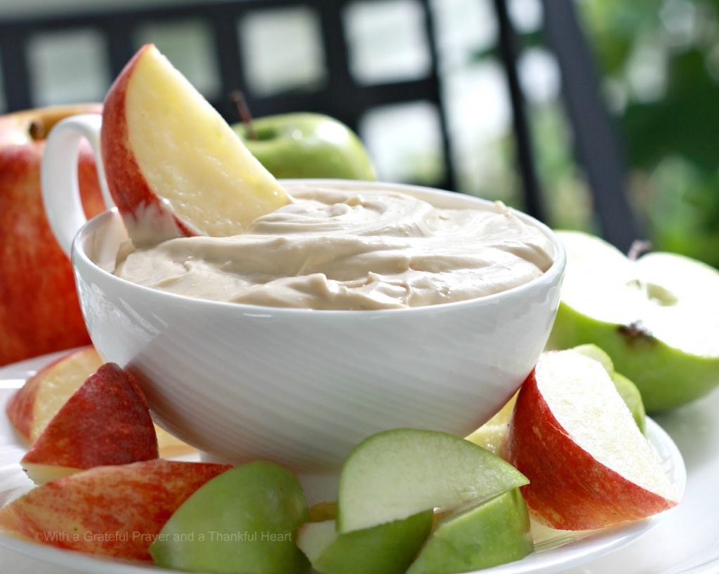Easy recipe for Cream cheese apple dip is a perfect way to enjoy those crisp, Autumn apples. Just a few ingredients mixed together for a healthy snack.
