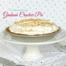 Grandmom Elsie's Graham Cracker Pie