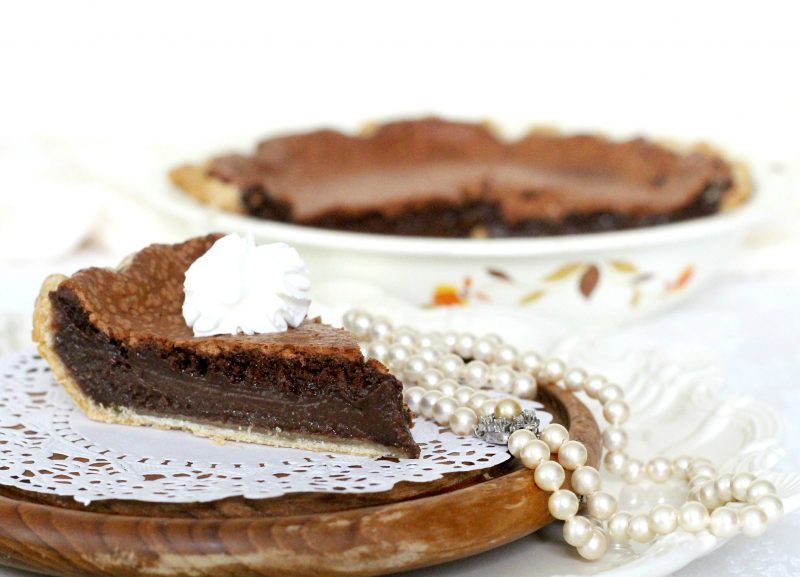 """Decadent Minny's chocolate pie is made popular by the book by Kathryn Socket, """"The Help"""". It is easy to make and perfectly delicious using regular ingredients."""