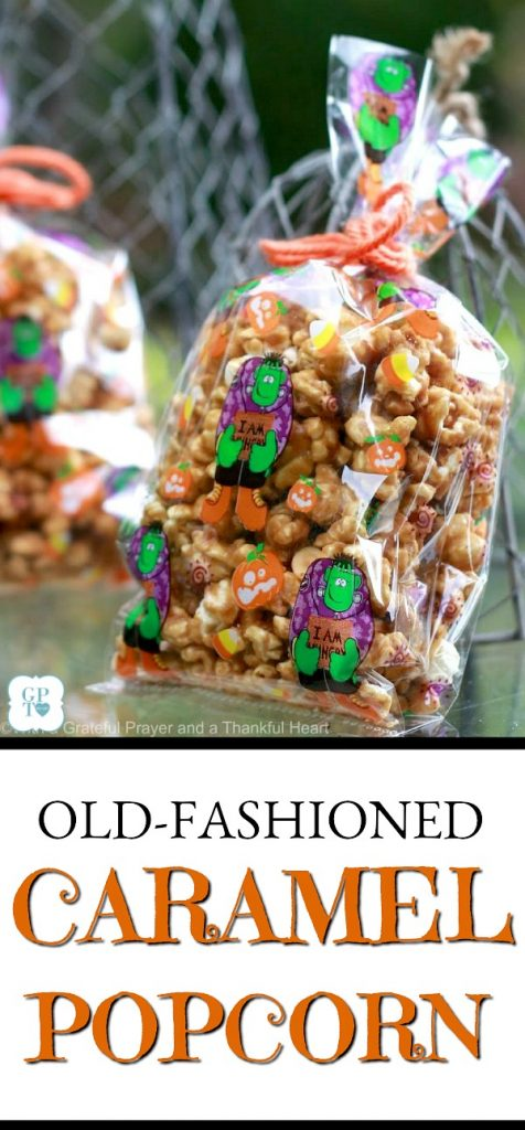 An easy recipe for sweet and crunchy caramel popcorn. Make your own and package in individual bags. Tie with a bow for sweet holiday gifts.