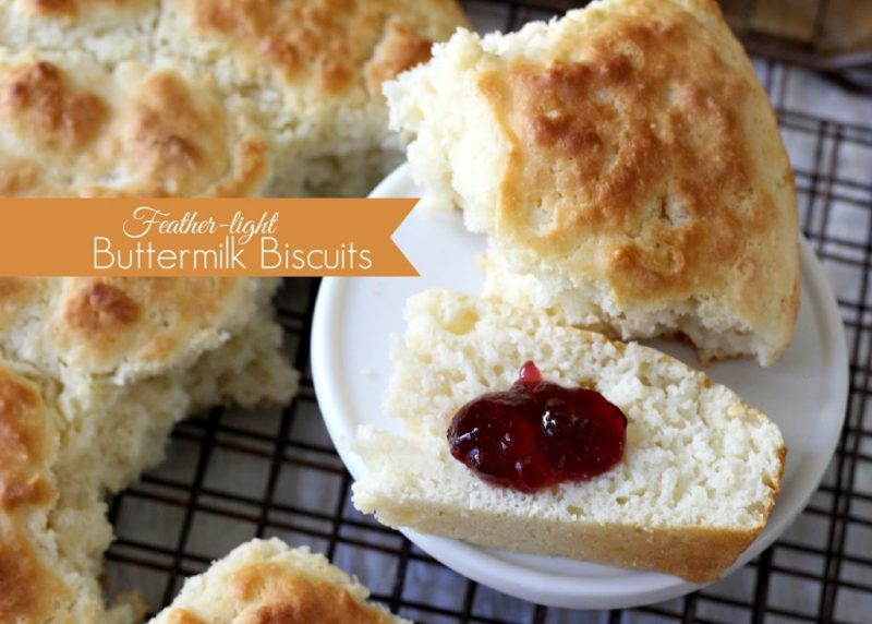 Easy recipe for Shirley's feather light buttermilk biscuits