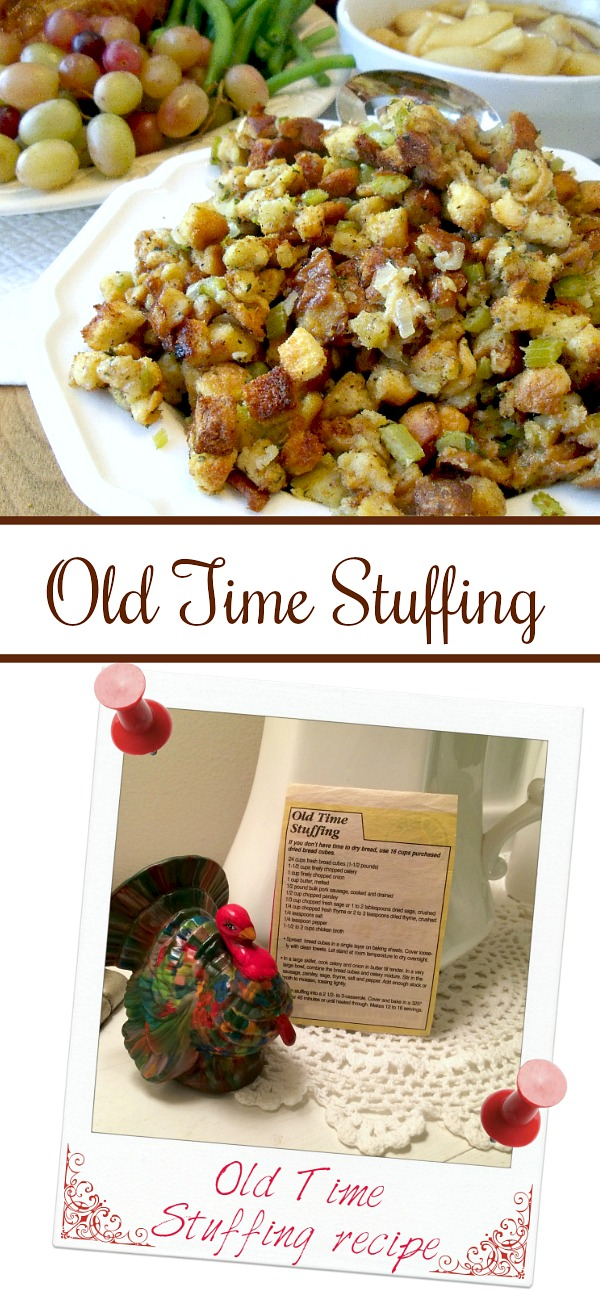Call it stuffing or filling, this favorite recipe for Old Time Stuffing is full of flavor and a perfect side to your Thanksgiving day turkey dinner.