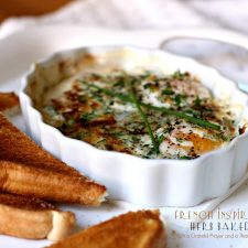 French Inspired Herbed Baked Eggs