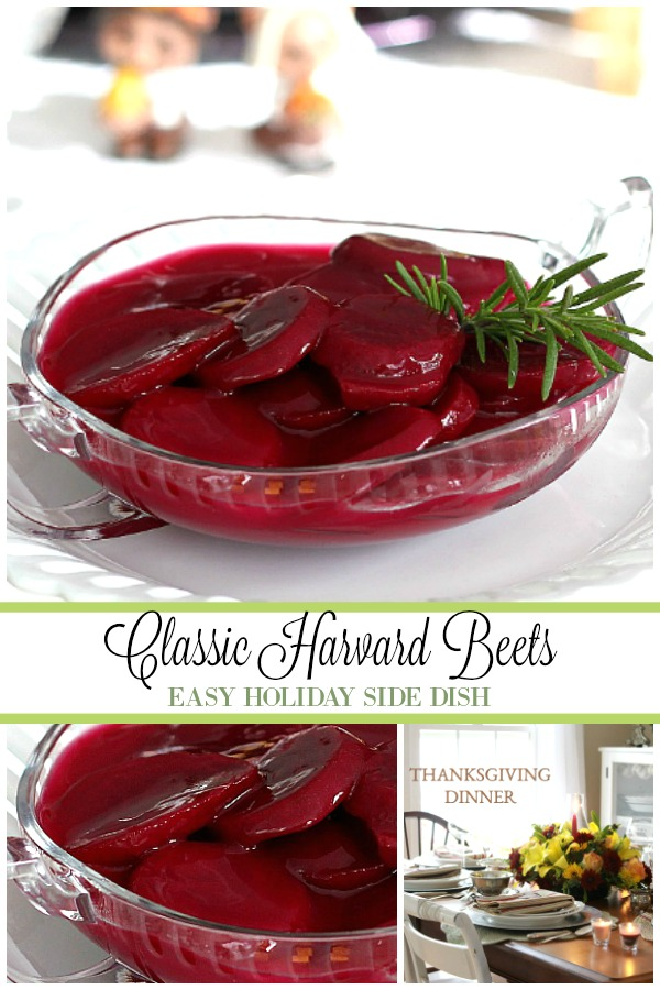 Super easy recipe for classic Harvard Beets. Enjoy this old-fashioned vegetable side dish for your Thanksgiving or holiday dinner.