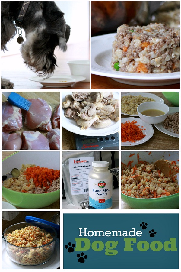 Making homemade dog food is far easier that I thought! Try these recipes using chicken, beef, oats, sweet potatoes and more with guide for great nutrition.