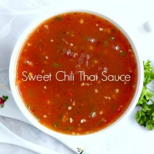 Sweet Chili Thai Sauce with Shrimp Appetizer