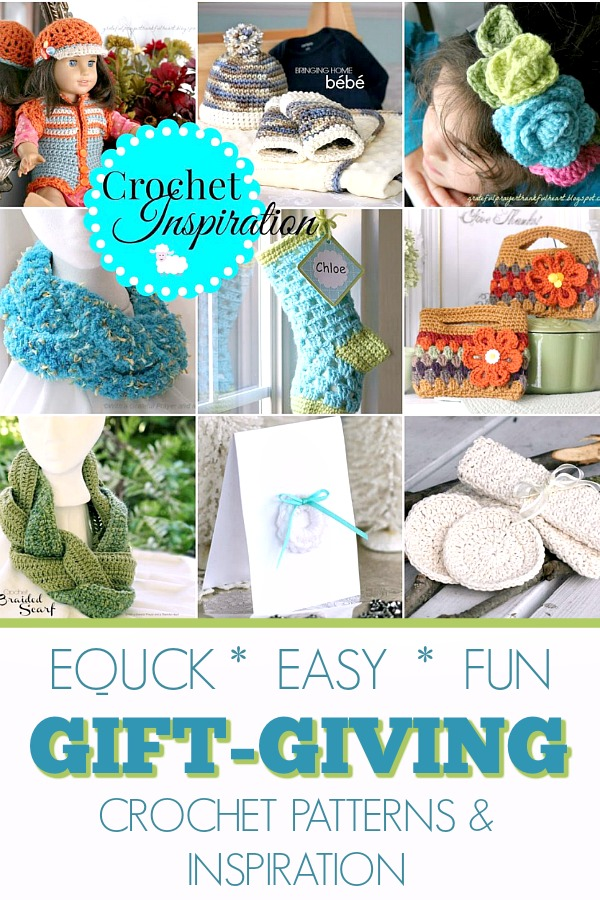 Inspiration and patterns for quick, easy and fun crochet projects for holiday gift-giving.