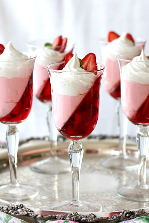 Festive and pretty Christmas Jello Dessert is light and yet satisfying while saving calories especially during the holidays when rich foods abound.