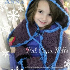 Frozen Princess Anna Hat Cape & Mitts