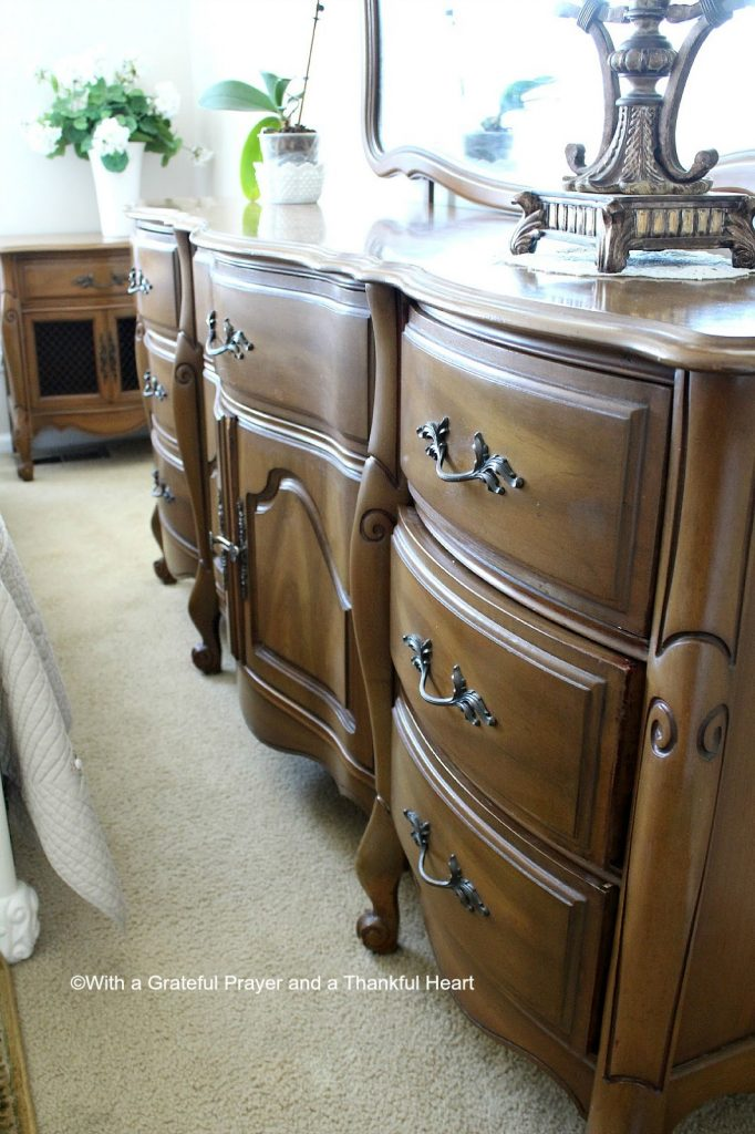Vintage French Provincial Bedroom Set Grateful Prayer Thankful Heart