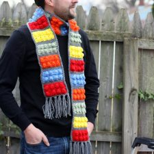 Crochet Lego Blocks Scarf
