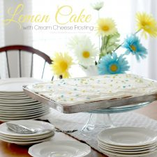 Lemon Sheet Cake with cream Cheese Frosting