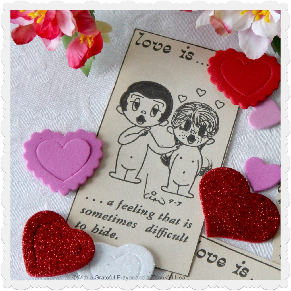 Sweet Love is... comic strip drawings created by Kim Grove Casali of New Zealand and saved in a scrap book from the mid-1970's.