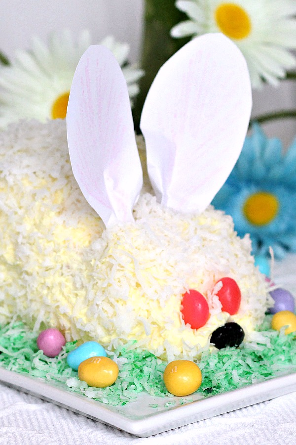 Make an easy Easter bunny cake using a box cake and either homemade or from-a-tub frosting for a sweet holiday dessert. A great cooking with kids activity as they assemble, frost and sprinkle on coconut.