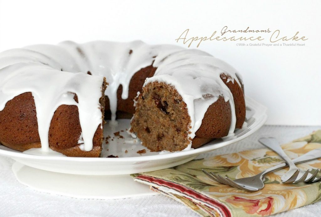 Old fashioned applesauce cake from Grandmom's vintage recipe.