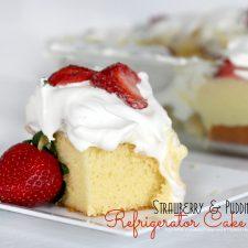 Strawberry & Pudding Refrigerator Cake