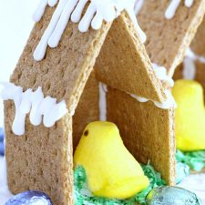 Easter Peep Graham Cracker House