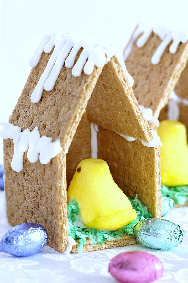 Easter Peep Graham Cracker House Grateful Prayer