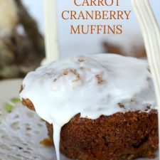 Sweet Carrot & Cranberry Muffins