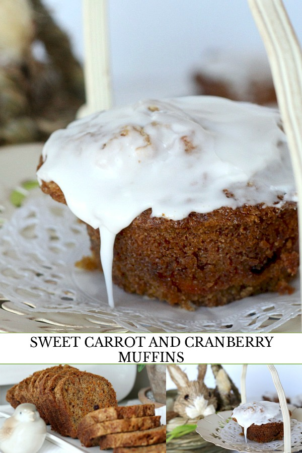 Easy, delicious, Sweet Carrot & Cranberry Muffins are perfect for breakfast or as a snack time treat. Cinnamon, poppy seeds and cranberries make them yummy!