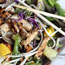 Asian Salad with Grilled Chicken, Pineapple & Mango