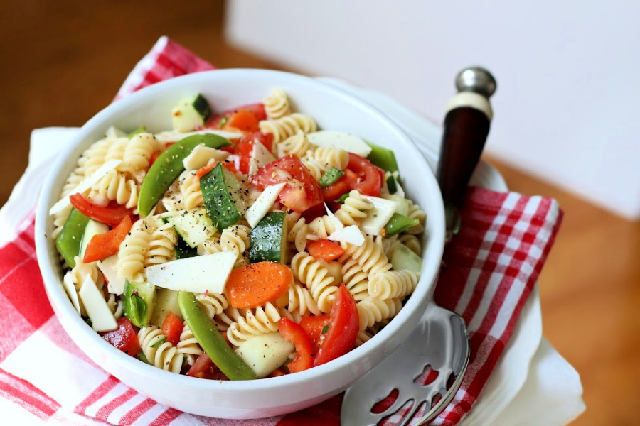 Classic Italian Pasta Salad is an easy recipe and  a great summer side or main dish. Substitute veggies and toss in chicken, cheese or whatever you like.