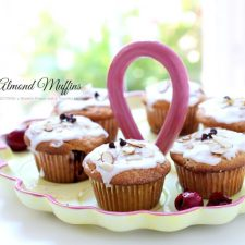 Cherry Almond Muffins with Mini Chocolate Chips
