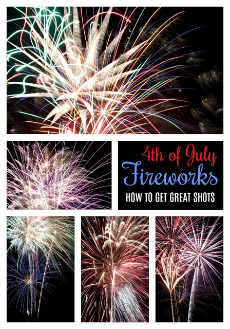 Wouldn't you love to capture photos of those amazing fireworks illuminating the night sky? Learn from these easy step-by-step instructions for how to get great Fireworks photos as we Celebrate the 4th of July!