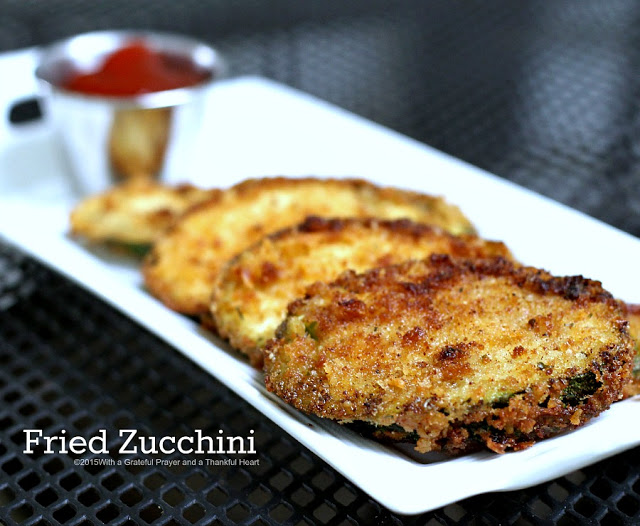 An old time favorite, fried zucchini is a delicious summertime, garden fresh appetizer, side dish or light entree using panko or regular bread crumbs.