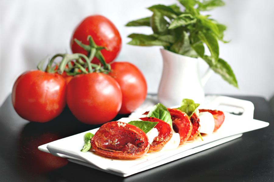 Roasted tomato Capresse salad recipe