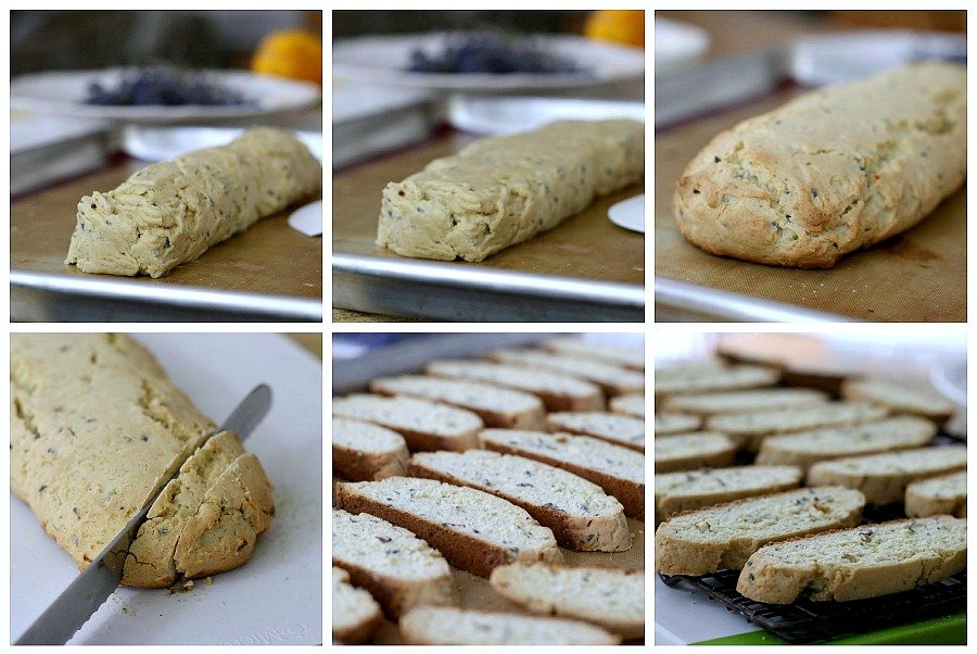 Biscotti is a twice-baked cookie that is a crunchy & perfect for dipping in milk, coffee or tea. Easy Biscotti with Lavender is extra pretty and special.