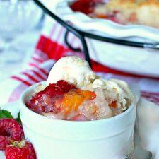 Peach & Raspberry Crisp