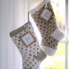 Babies 1st Christmas Crochet Stocking Pattern for Shower Gift