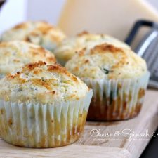 Cheese and Spinach Savory Muffins