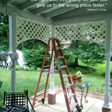 ladders and painting