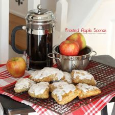 Frosted Apple Scones