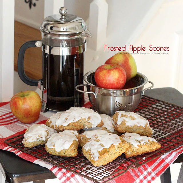 Frosted Apple Scones.