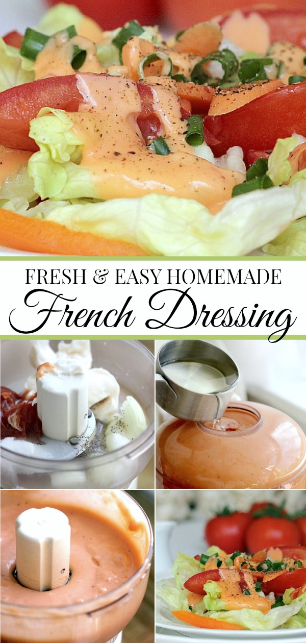 Easy recipe for Creamy French Dressing. Inexpensive and so much better than store bought.