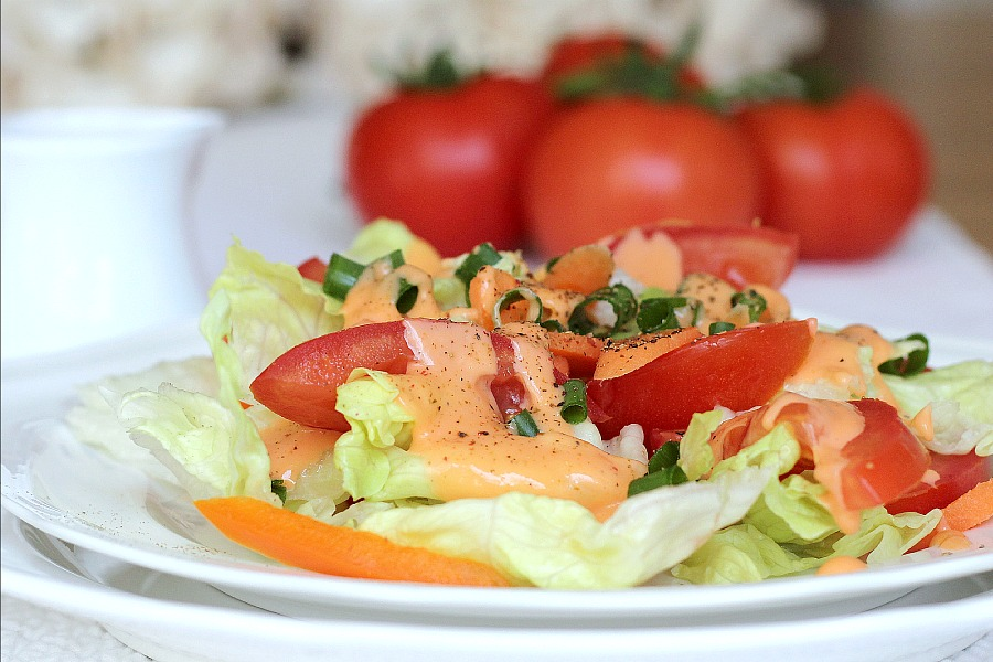 Tangy and creamy, homemade French Dressing is so easy to make and inexpensive too.
