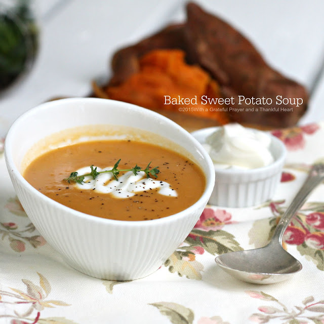Baked Sweet Potato Soup could not be easier and if youlike sweet potatoes, you will love it. Super easy and super yummy!