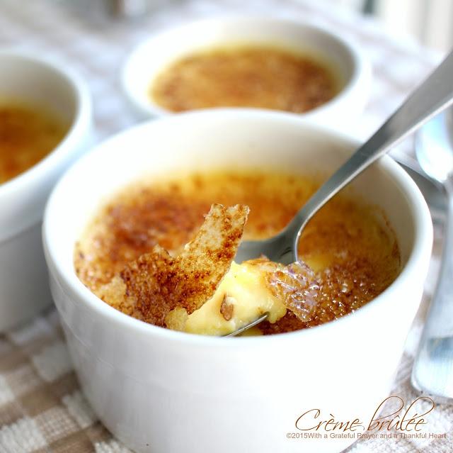 Creme Brulee recipe made in Paris Cooking School