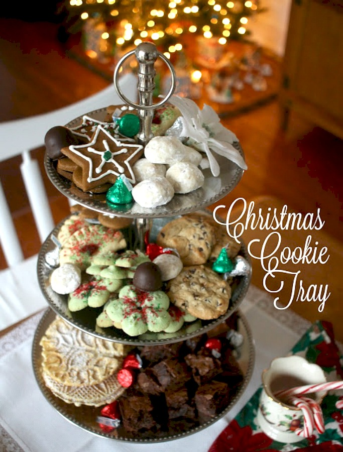 Everyone is sure to find something they like from this Christmas Cookie Tray. Filled with a variety of cookies baked ahead and kept fresh in the freezer.