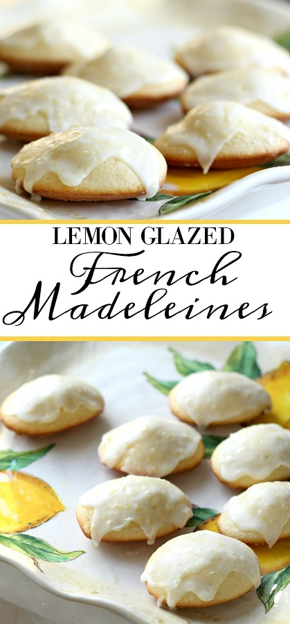 Madeleines are small sponge cakes with a distinctive shell-like shape.  These little cakes are browned and crispy on the outside and spongy and soft on the inside. Lemon Glazed French Madeleines are a perfect accompaniment to your afternoon cup of tea.