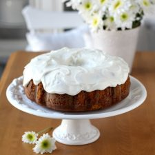 Sweet Potato Pound Cake with Cream Cheese Frosting