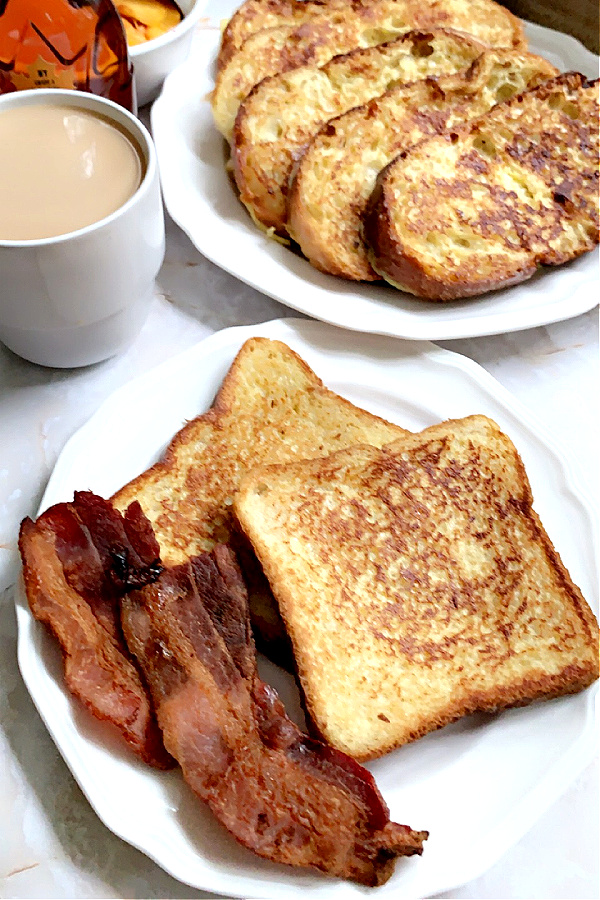 French toast breakfast with bacon